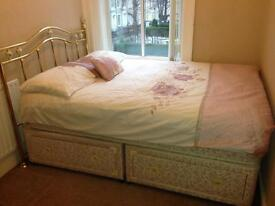 Double bed four drawers *accept offers*