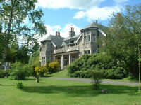 Fine Edwardian House on Royal Deeside as Family Home or BnB with 2 bedroomed Cottage in the Grounds