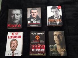 Books - Manchester United & Various Hardback