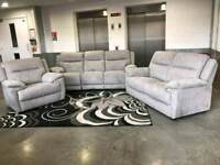 X DISPLAY GREY SUEDE FABRIC SOFA 3 SEATER 2 SEATER 1 SEATER FAST DELIVERY!!!