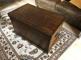 Vintage Solid Wooden Chest NOWN SOLD