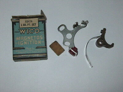 Genuine Wico Breaker Points Set X5474 Gas Engine Hit Miss New Old Stock