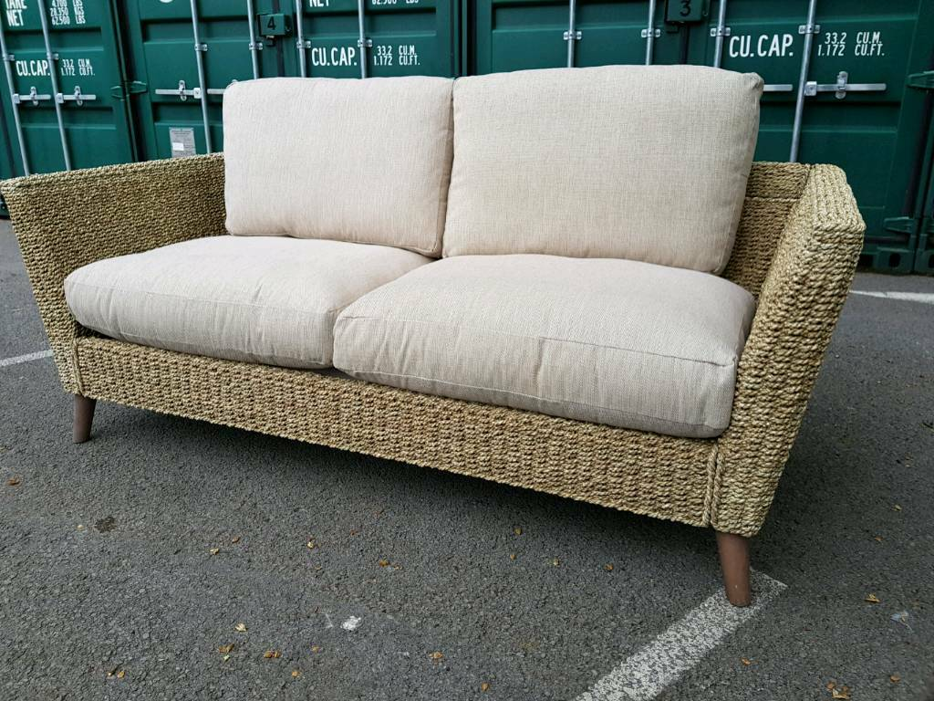 New Adalicia Beige Banana Leaf 3 Seater Sofa Delivery Available