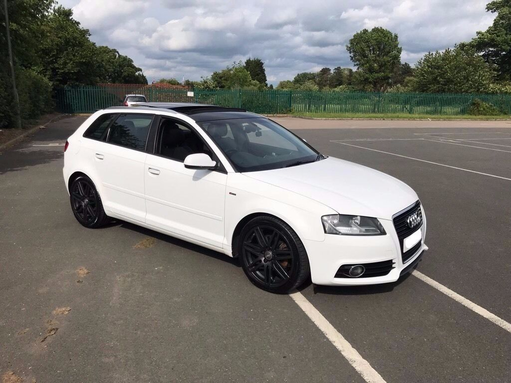 Audi a3 Ibis white s line sportback panoramic sunroof. low mileage