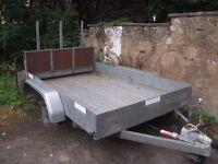 Galvanized four wheel trailer