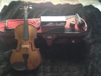 Stentor II with case, bow, shoulder rest, Dominant rosin
