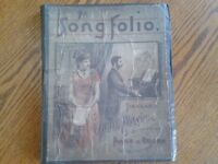 Antique song folio,1883,standard vocal music,piano,organ,favorite composers
