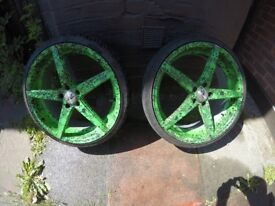 Stunning wheels 5x108 20x8,5j with tyres Nankang 245/30 with hub centric rings (volvo v60)