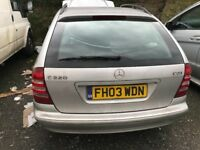 03 MERCEDES C220 CDI AUTO ESTATET FOR BREAKING FOR ANY PARTS CALL ON