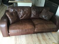 2no 2 seater sofas