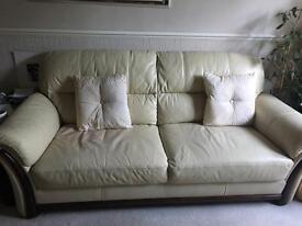 Leather sofas 3 & 2 seater