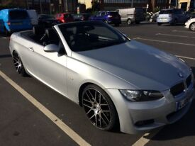 "20""ALLOYS!!! 2008' BMW 325i 3.0 M SPORT Convertible 2dr Petrol Automatic Silver"