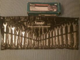 kamasa new 22 peice combination spanner set see discription for sizes
