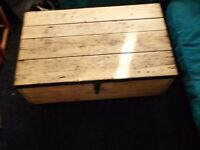 Vintage pine box / coffee table