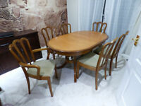 Extendable Meredew Table and 6 Chairs