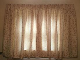 Marks and Spencer Gold Leaf Patterned Curtains