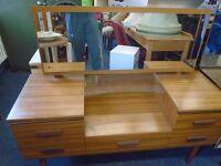 1960s dresser with mirror.