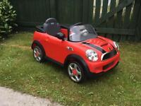 Child's Mini Cooper 6v electric car
