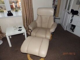 Leather Recliner Chair with foot stool