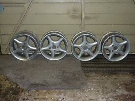 """Set of four 14"""" alloy wheels to fit Ford,Peugeot,Mazda etc"""