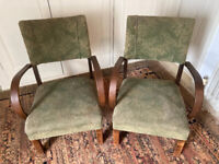 A Pair of Vintage Fireside Chairs