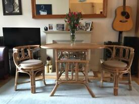 Two seater conservatory ding table and chairs