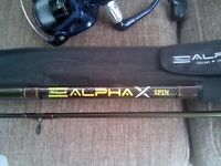 Alpha x Spin fishing rod.