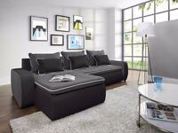 Delivery 1-10 days Corner Sofa Bed VEGAS Brand New Function and Storage Universal Side