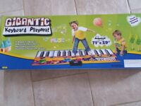Gigantic keyboard piano play mat