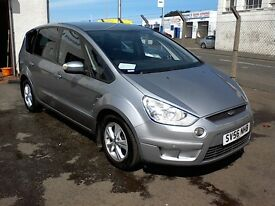 FREE DELIVERY - 2006 FORD S-MAX ZETEC 1.8L DIESEL -7 SEATER-YEAR MOT-WARRANTY-SERVICE-FREE DELIVERY
