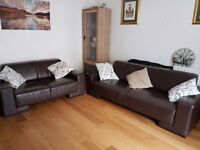 Leather three Seater and two seater sofa quick sale