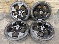 "*Refurbished* Genuine 17"" VW Monza GTi Golf Alloy Wheels & Tyres 5x112"