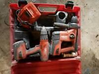 Hilti TE4 & SFH 22v cordless drill set