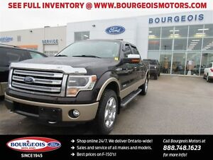 2013 Ford F-150 Lariat 4X4 CREW 6.5' BOX LEATHER  NAV REAR VIEW