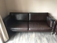 Ikea Brown leather sofas