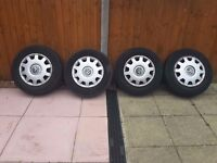 "VW Golf 15"" wheels and trims for sale"