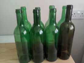 Mixed 75cl bottles for winemaking