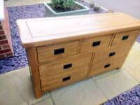 Solid Oak Rustic Chest of Drawers from Oak Furniture Land