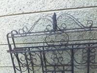 one pair of wrough iron gates.6foot wide .20 pounds