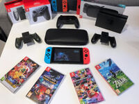 Nintendo Switch Console + 4 Games and Accessories