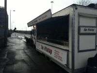 Snackvan and pitch for sale outside the super hospital in govan