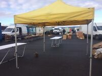 GAZEBO 3m X 3m POP UP SHADE PRO 50 4 SIDEWALLS Car Boot Sales Catering MARKET STALL TRADE STAND