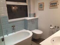 4m sq of Blue and white ceramic crackle glaze tiles. 150mmx75mm. 15x7.5cm
