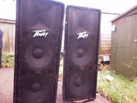 """SPEAKERS - PEAVEY DOUBLE 15"""" ( Pair ) 1,400 Watts in total £160 o.n.o"""