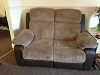 2 two seater reclining sofas