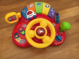 V tech tiny tot toy driver steering wheel