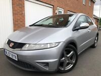 2007 57 Honda Civic 1.8 VTEC Petrol 5dr 100k FSH not type r s accord auris a3 golf
