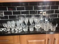 Selection of crystal glasses