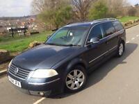 2004 Volkswagen Passat 4 motion sport 1.9 tdi 130 6 speed estate # leather /suede # cruise control