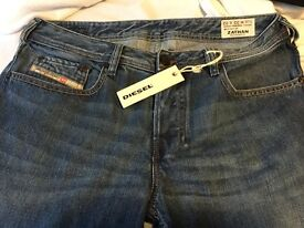 Diesel jeans for Christmas! bootcut, size 32, new with tags! £55